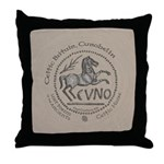 Celtic Horse Coin Throw Pillow