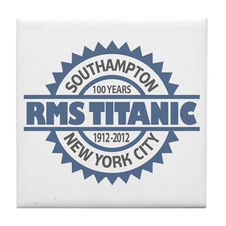 Titanic Sinking Anniversary Tile Coaster