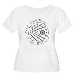 Celtic Eye Coin Women's Plus Size Scoop Neck T-Shi