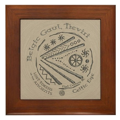 Celtic Eye Coin Framed Tile