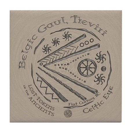 Celtic Eye Coin Tile Coaster