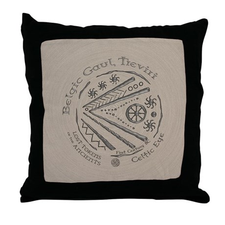 Celtic Eye Coin Throw Pillow