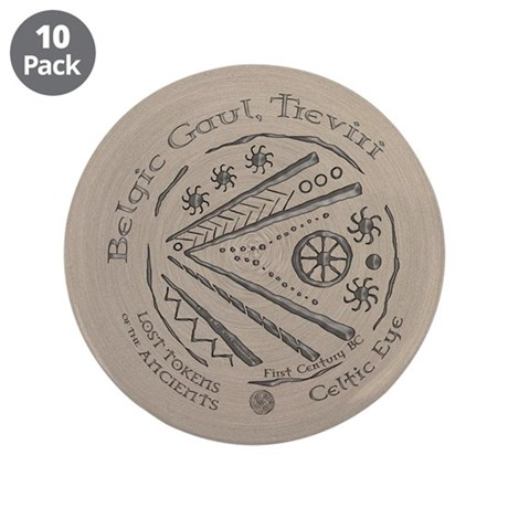 "Celtic Eye Coin 3.5"" Button (10 pack)"