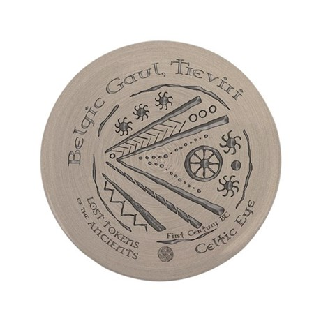 "Celtic Eye Coin 3.5"" Button (100 pack)"