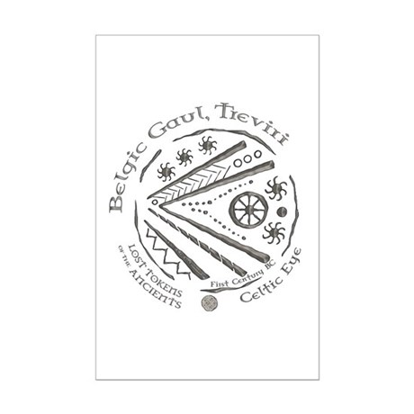 Celtic Eye Coin Mini Poster Print