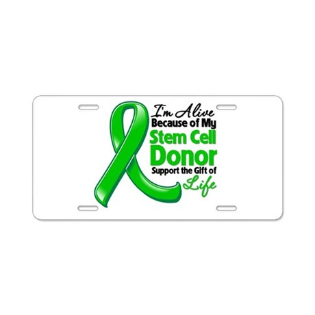 Alive BC Stem Cell Donor Aluminum License Plate