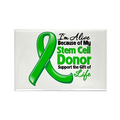 Alive BC Stem Cell Donor Rectangle Magnet (100 pac