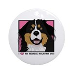 I Love My Bernese Ornament (Round)