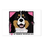 I Love My Bernese Postcards (Package of 8)