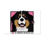 I Love My Bernese Mini Poster Print
