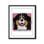 I Love My Bernese Framed Panel Print