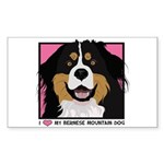 I Love My Bernese Sticker (Rectangle 50 pk)