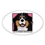 I Love My Bernese Sticker (Oval 50 pk)