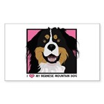 I Love My Bernese Sticker (Rectangle)