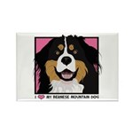 I Love My Bernese Rectangle Magnet (100 pack)