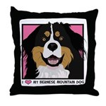 I Love My Bernese Throw Pillow