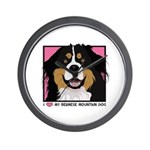 I Love My Bernese Wall Clock