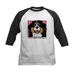 I Love My Bernese Kids Baseball Jersey