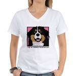 I Love My Bernese Women's V-Neck T-Shirt