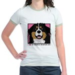 I Love My Bernese Jr. Ringer T-Shirt