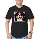 I Love My Bernese Men's Fitted T-Shirt (dark)
