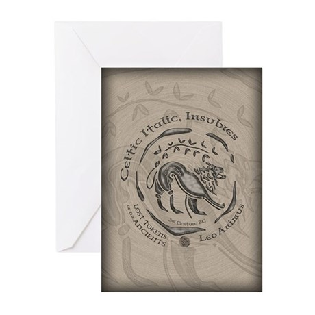 Celtic Lion Coin Greeting Cards (Pk of 10)