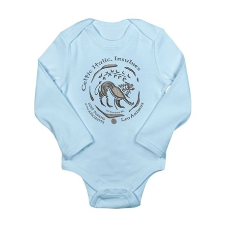 Celtic Lion Coin Long Sleeve Infant Bodysuit