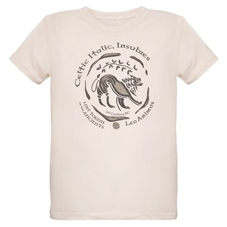 Celtic Lion Coin Organic Kids T-Shirt
