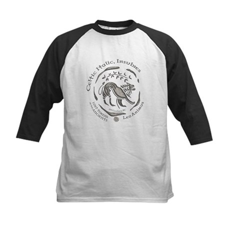 Celtic Lion Coin Kids Baseball Jersey