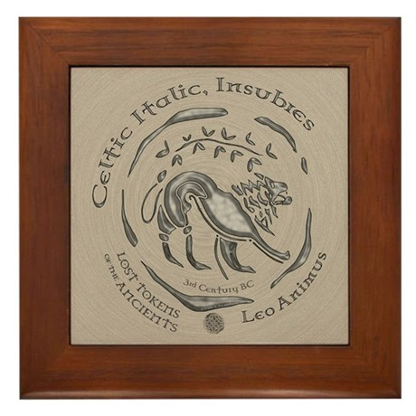 Celtic Lion Coin Framed Tile