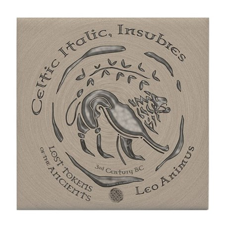 Celtic Lion Coin Tile Coaster