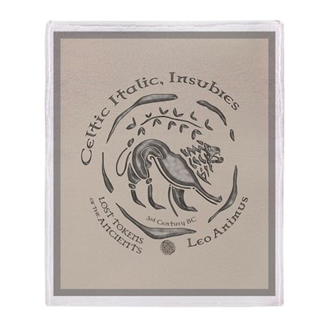 Celtic Lion Coin Throw Blanket