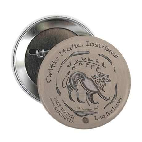 "Celtic Lion Coin 2.25"" Button (100 pack)"