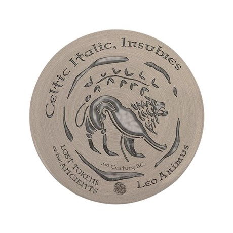 "Celtic Lion Coin 3.5"" Button"