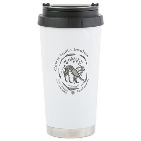 Celtic Lion Coin Ceramic Travel Mug