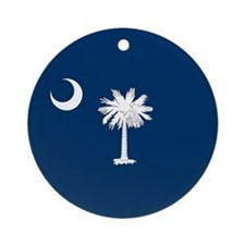 SC Palmetto Flag Ornament (Round)