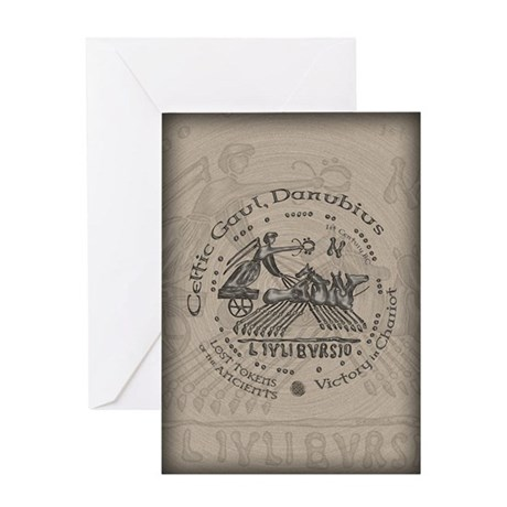 Celtic Victory Chariot Coin Greeting Card