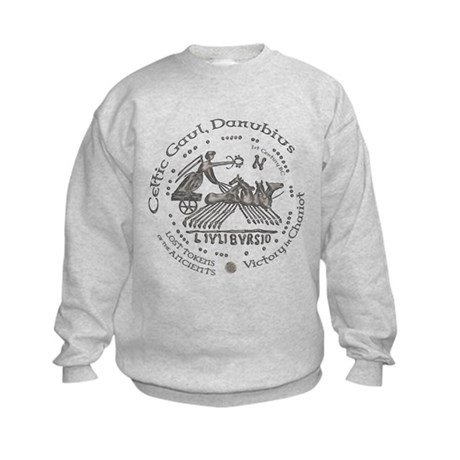 Celtic Victory Chariot Coin Kids Sweatshirt