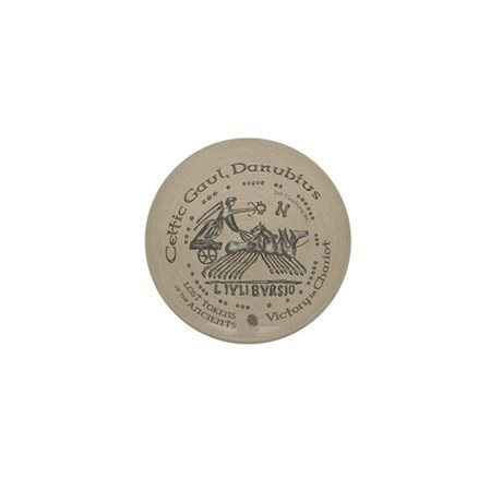 Celtic Victory Chariot Coin Mini Button (10 pack)