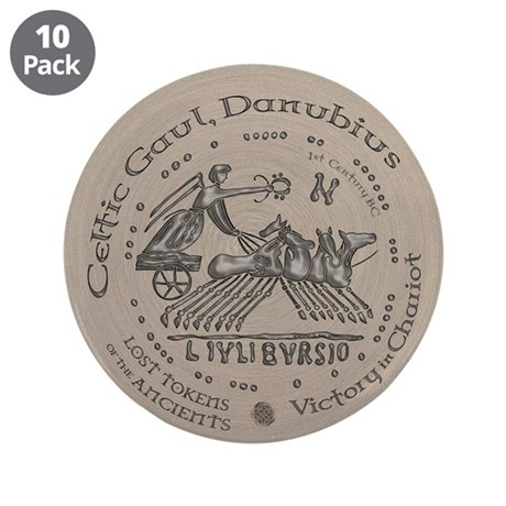 "Celtic Victory Chariot Coin 3.5"" Button (10 pack)"
