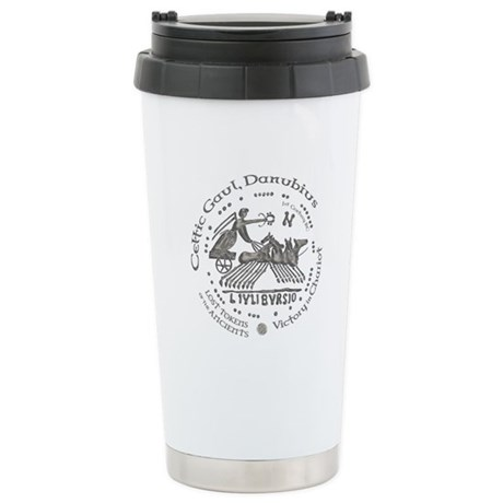 Celtic Victory Chariot Coin Ceramic Travel Mug