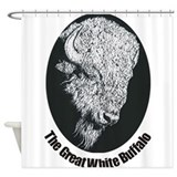 Great White Buffalo Shower Curtain