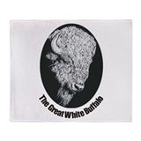 Great White Buffalo Throw Blanket