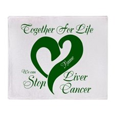 Personalize Stop Liver Cancer Throw Blanket