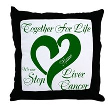 Personalize Stop Liver Cancer Throw Pillow