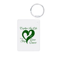 Personalize Stop Liver Cancer Keychains