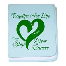 Personalize Stop Liver Cancer baby blanket