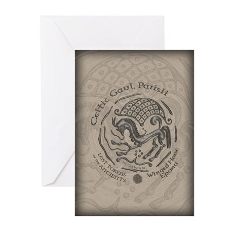 Celtic Epona Coin Greeting Cards (Pk of 10)
