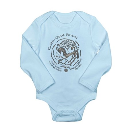 Celtic Epona Coin Long Sleeve Infant Bodysuit
