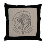 Celtic Epona Coin Throw Pillow
